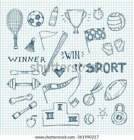 hand drawn vector illustrations