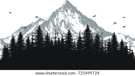 hand drawn vector nature