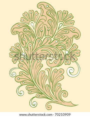 Hand Drawn Vector Paisley Design