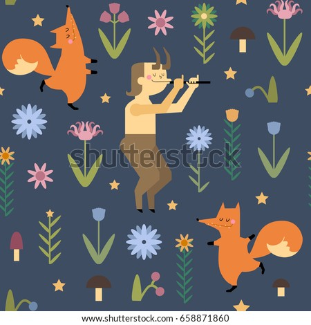 hand drawn vector pattern with