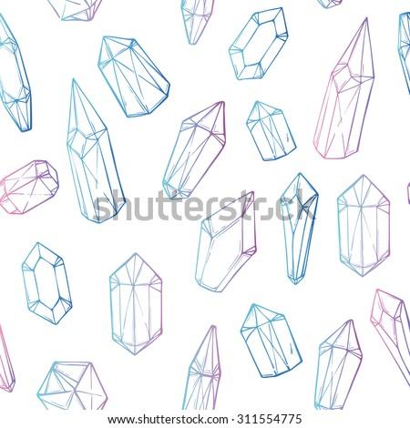 hand drawn vector seamless