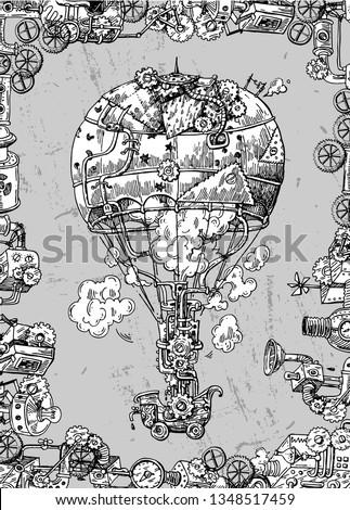 hand drawn vector sketch