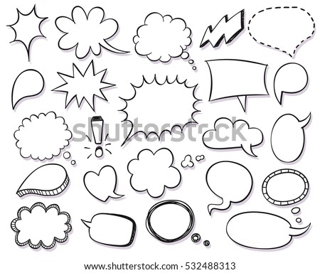 hand drawn vector sketch speech