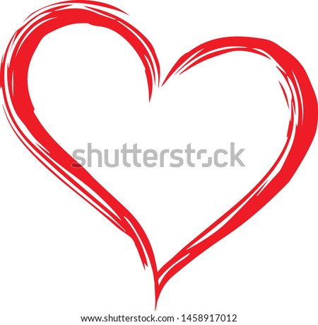hand drawn vector valentine