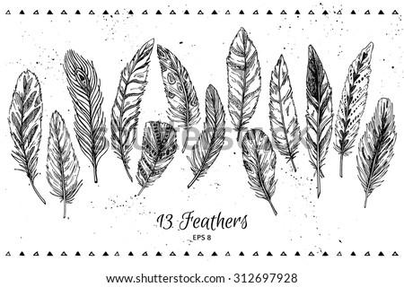 hand drawn vector vintage