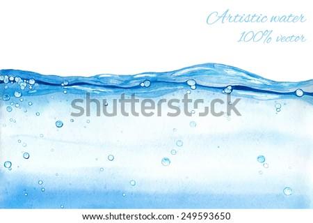 hand drawn vector water splash