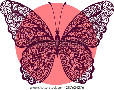 hand drawn vector zentangle