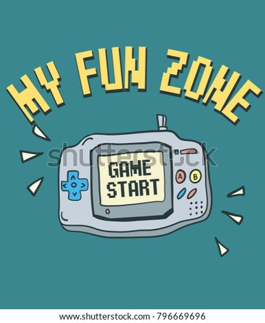 hand drawn video game with