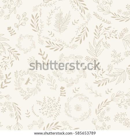 hand drawn wallpaper seamless