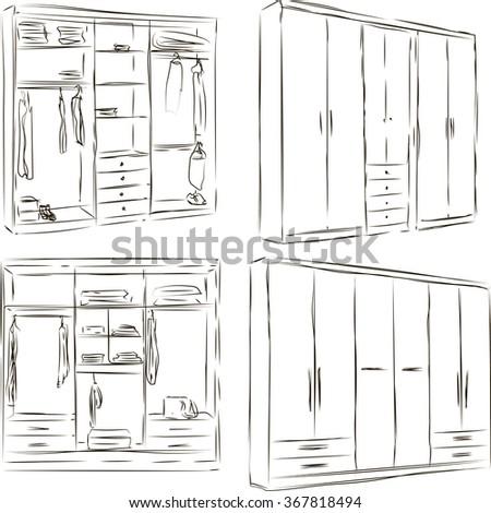 Hand Drawn Wardrobe Sketch
