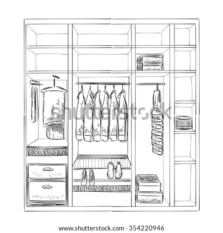 Hand Drawn Pantry Sketch Stock Photo 357713930 Avopix Com