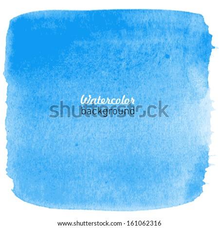 hand drawn watercolor blue