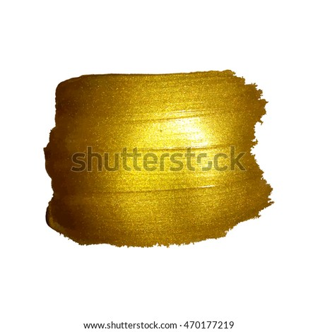 Hand drawn watercolor gold texture made in vector. Shiny and sparkle #470177219