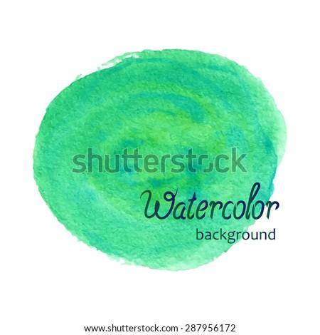 hand drawn watercolor green