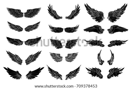 sticker with wings download free vector art stock graphics images
