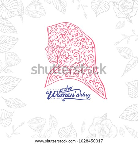 8be397f0aa77 Colorful Floral Girl Silhouette