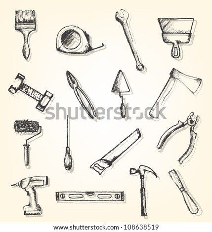 Hand drawn working tools