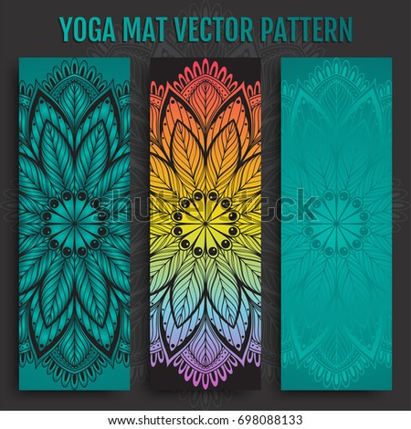 Hand Drawn Yoga Mat Vector Pattern