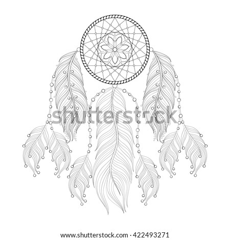 picture about Printable Adult Coloring Pages Dream Catchers identify Vector Illustrations or photos, Examples and Cliparts: Hand drawn
