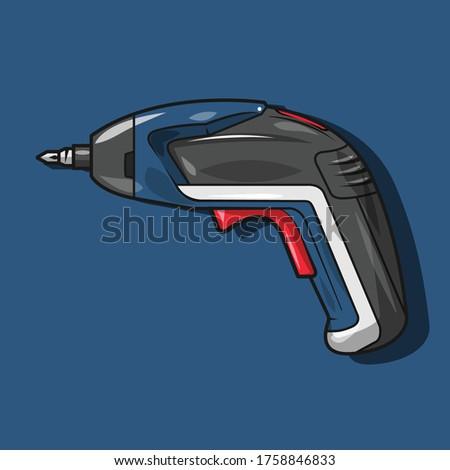 hand drill tools vector illustration