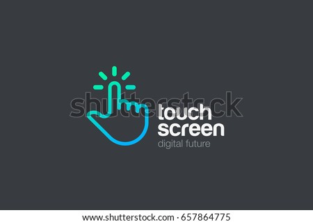 hand finger touch screen...