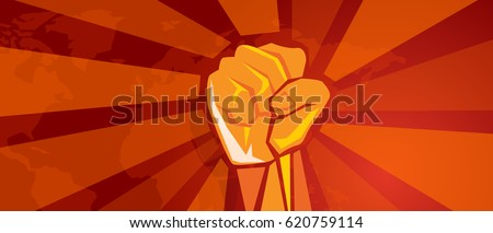 hand fist revolution symbol of