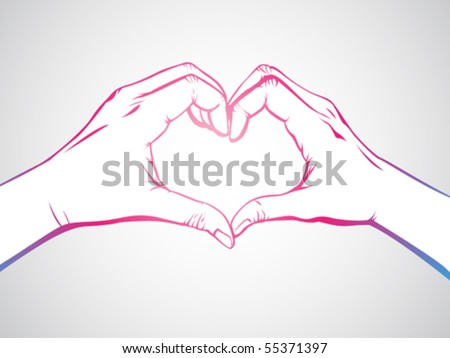 Many Hands Forming a Heart Hand Forming a Heart Shape