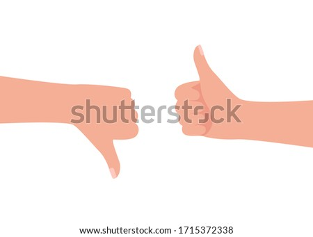 hand gesture man feedback like