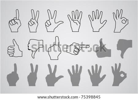 hand gesture (numbers and rating)