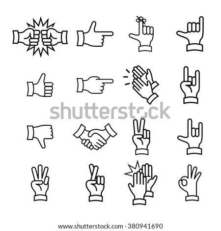 hand gestures from clapping