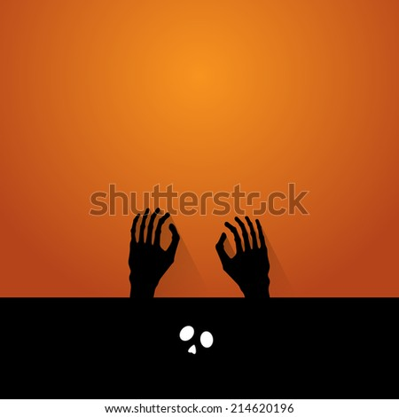hand ghost halloween vecter