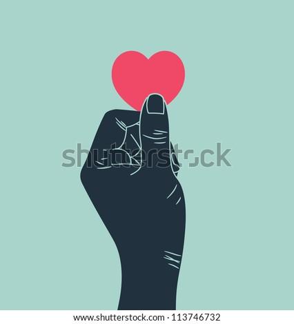 hand giving love symbol