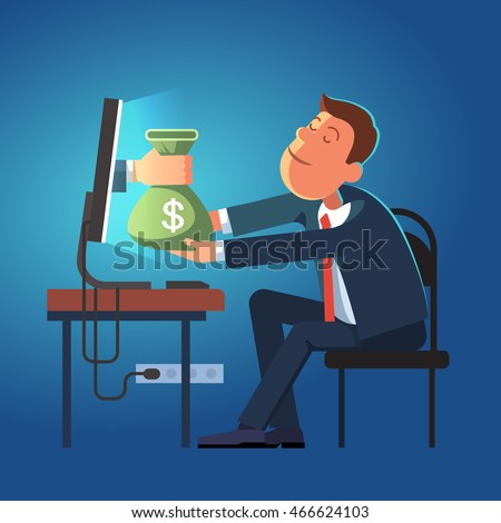 hand giving money sack from a