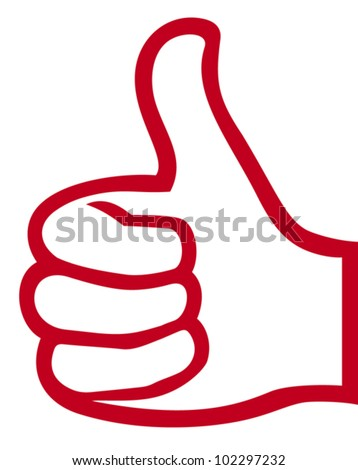 hand giving ok (vector hand showing thumbs up, hand gesture with thumb up)