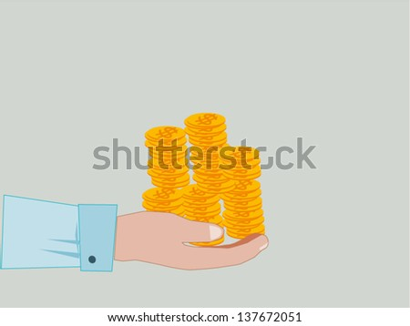 Hand Giving & Receiving Money