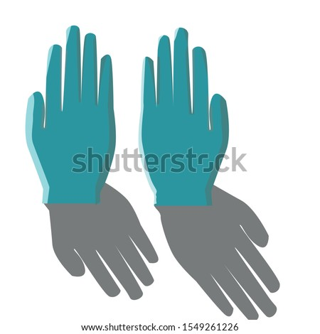 Hand glows image vector image