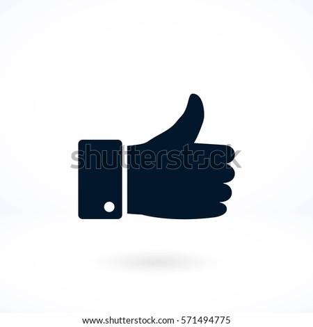 hand. good vector, flat design best vector icon