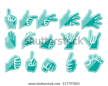 HAND GREEN - stock vector