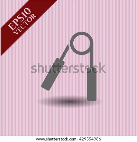 hand gripper icon vector symbol flat eps jpg app web