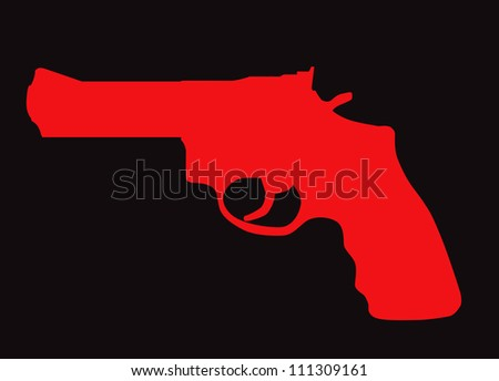 hand gun silhouette isolated on