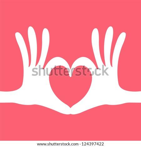 hand heart gesture