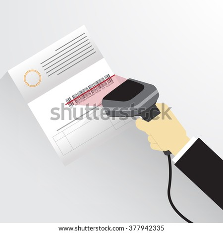hand hold barcode reader and