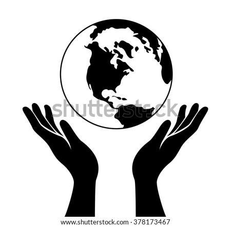 hands holding earth download free vector art stock graphics images rh vecteezy com Cupped Hands Vector Reaching Hands Vector