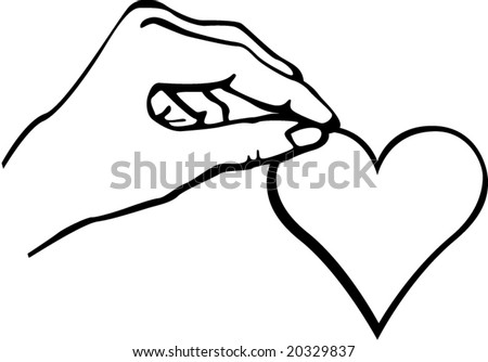 Hand Holding Heart Drawings Hand Holding a Heart