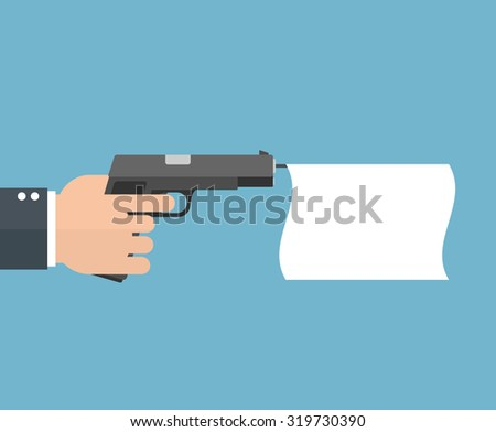 hand holding a pistol with an