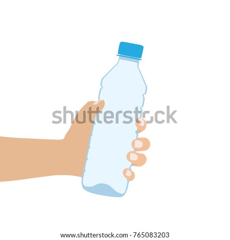hand holding a water bottle