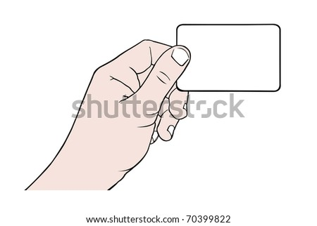 hand holding card with space for text