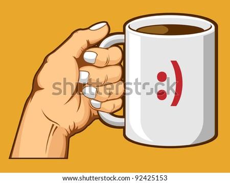 Hand Holding Coffee Mug