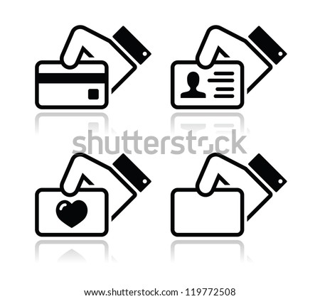 Business Card Icons Vector Business Card id Icons