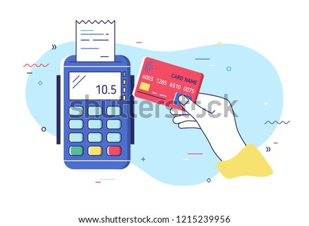 hand holding debit or credit